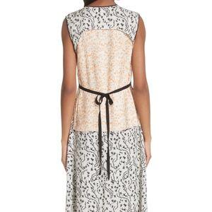 Yigal Azrouel Wrap Detail Pleated Maxi Dress NWT